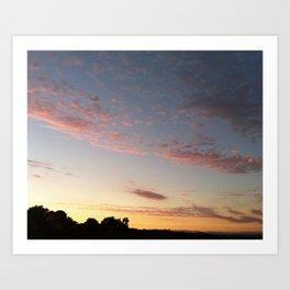 Pink California Sunset Art Print