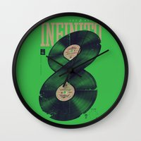 moto Wall Clocks featuring Moto Perpetuo by Vó Maria