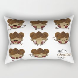 Chestnut Girl Mood Rectangular Pillow