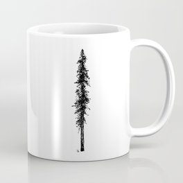 Love in the forest - a couple and their dog under a solitary, towering Douglas Fir tree Coffee Mug