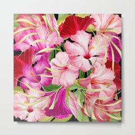 Tropical Power Flowers Metal Print