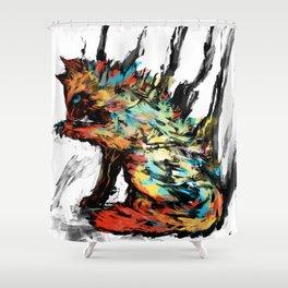 Fume Cat Shower Curtain