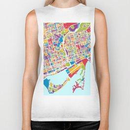 Toronto Street Map Biker Tank