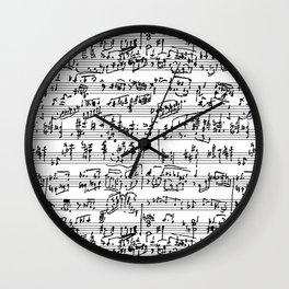 Handwritten Sheet Music Wall Clock