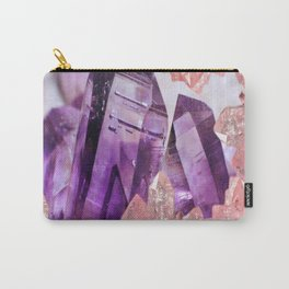 PURPLE AMETHYST & PINK CRYSTALS DESIGN Carry-All Pouch