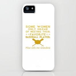 BASEBALL GRANDMA iPhone Case
