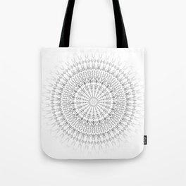 Gray White Mandala Tote Bag