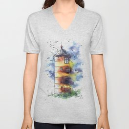 Lighthouse #3 Unisex V-Neck