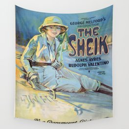 Vintage poster - The Sheik Wall Tapestry
