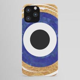 Modern Evil Eye Medallion iPhone Case
