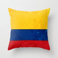 colombia Throw Pillows featuring Colombia by The Traveller, Wanderlust and Me