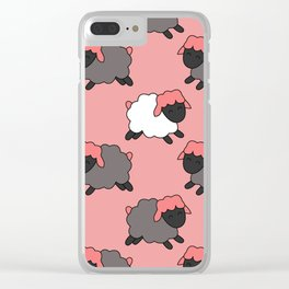 sheep pattern Clear iPhone Case