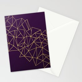 Ultra Purple Geo Stationery Cards