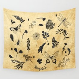 Retro Botanicals Wall Tapestry
