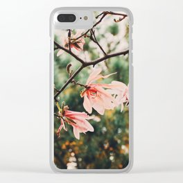 Spring Magnolia Blooms Clear iPhone Case