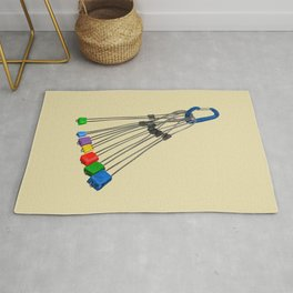 Rock Climbing Wires Rug