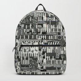 Exploiting Digital Behavior (P/D3 Glitch Collage Studies) Backpack