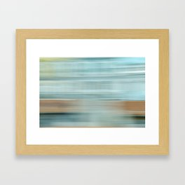Life (Aqua and Burnt Rose) Framed Art Print