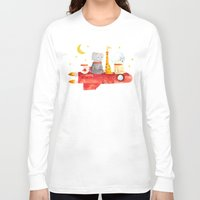 bruno mars Long Sleeve T-shirts featuring Let's All Go To Mars by Picomodi