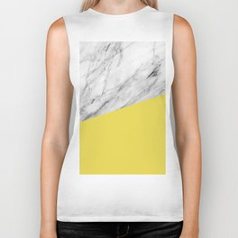 Marble with Meadowlark Yellow Color Biker Tank