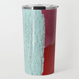 Desert Daydreams [2]: a vibrant, colorful abstract acrylic piece in pink, red, orange, and blue Travel Mug