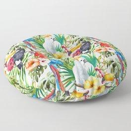 Exotic Birds pattern Floor Pillow