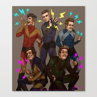 kendrawcandraw Canvas Prints featuring Superlads by kendrawcandraw