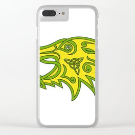 Boar Head Celtic Knot Clear iPhone Case