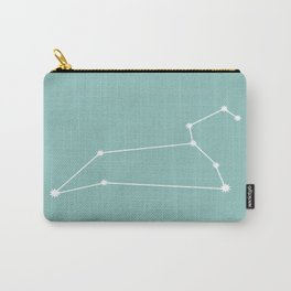 Leo Zodiac Constellation - Teal Carry-All Pouch