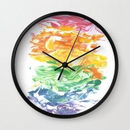 Rainbow Splat Wall Clock