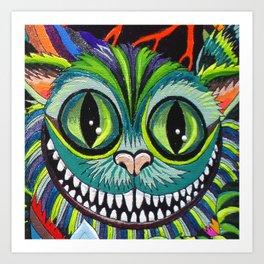 Cheshire puss Art Print