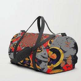 BUTTERFLIES &  BLACK BATS  RED ART Duffle Bag