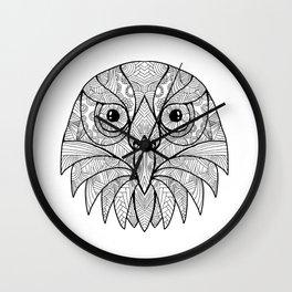 Australian Barking Owl Mandala Wall Clock
