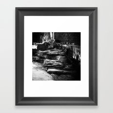 Beyond the walls of illusion Framed Art Print