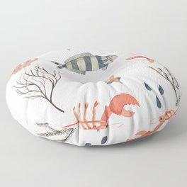 Sealife Schoolchart Floor Pillow