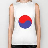 korea Biker Tanks featuring I'm huge in korea by junaputra
