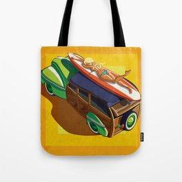On The Woodie Tote Bag
