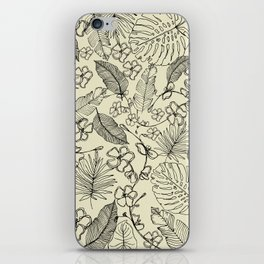 Tropical doodle iPhone Skin
