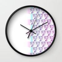 david bowie Wall Clocks featuring ::::: Nur David Bowie ::::: by NurRahman