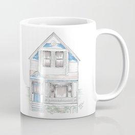 Blue Folk Victorian House Coffee Mug