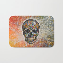 Abstract modern art painting ... Skull Bath Mat