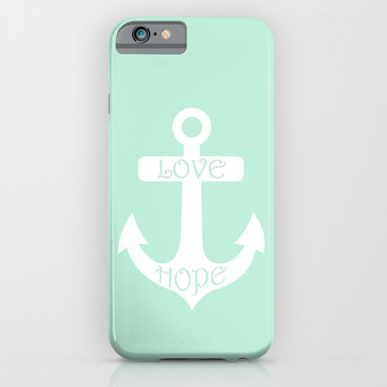Love Hope Anchor Mint Green iPhone & iPod Case