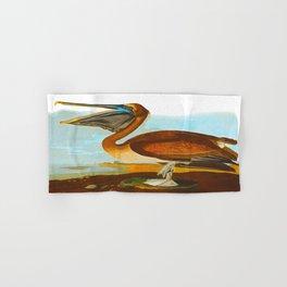 Brown Pelican John James Audubon Vintage Scientific Birds Of America Illustration Hand & Bath Towel
