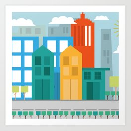 Geometric City Art Print
