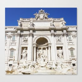 Make a Wish: Trevi Fountain in Rome, Italy Canvas Print