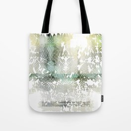 Fractured Silver Tote Bag