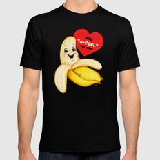 Valentine- Banana Mens Fitted Tee MEDIUM Black