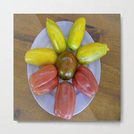 Heirloom Tomatoes - Circle of Goodness Metal Print