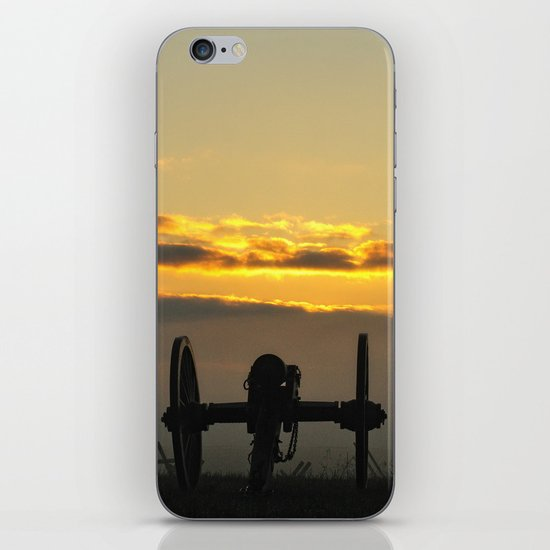 Sunrise on a foggy Battlefield iPhone & iPod Skin