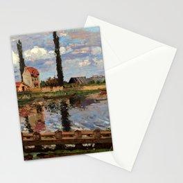"Camille Pissarro ""Au bord de la Seine à Port Marly"" (1871) Stationery Cards"